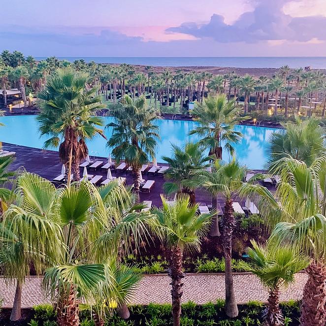 Vidamar resort Algarve: palmenparadijs aan het strand (luxe hotel Algarve)