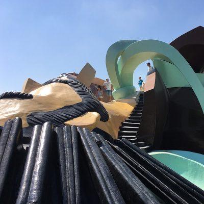 Gulliver park: gratis glijbanen speeltuin in Valencia