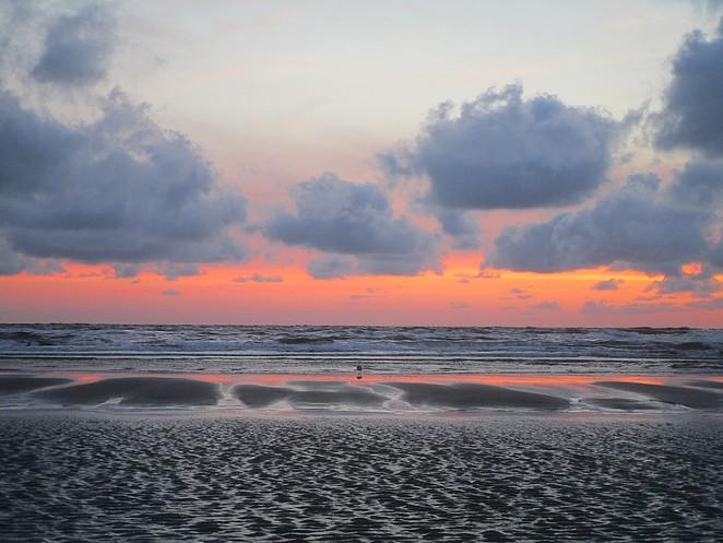 zonsondergang-noordzee