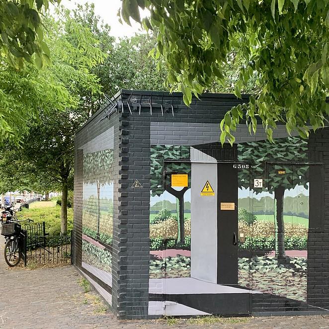 Street art op elektriciteitshuisjes in Den Haag: kunst op tientallen transformatorhuisjes!