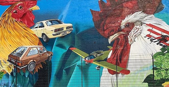 grote muurschildering den haag