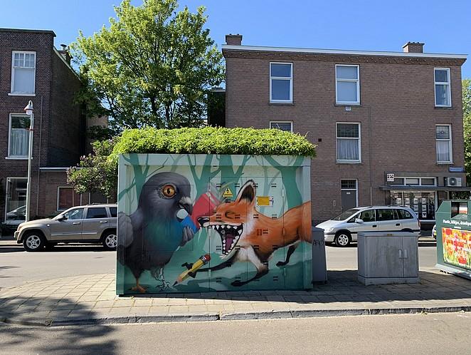 street art elektriciteitshuisje-den-haag