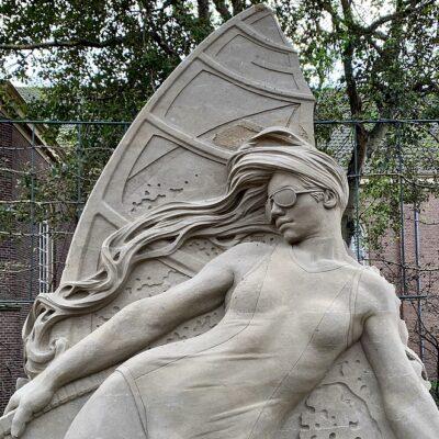 Zandsculpturen in Zandvoort: jaarlijks EK Zandsculpturen festival als expositie te zien