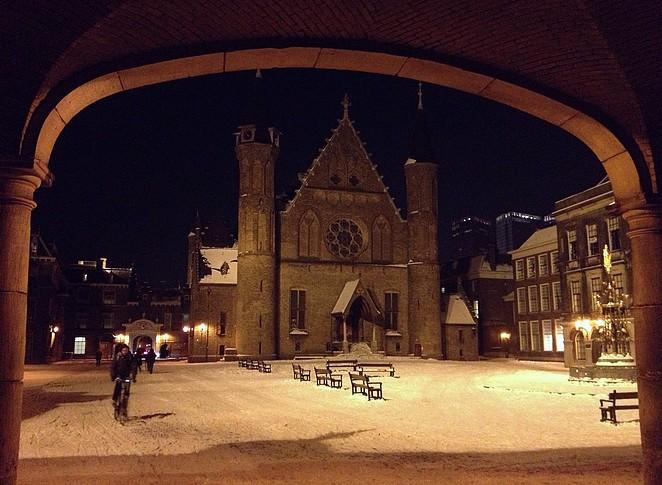 sneeuw-binnenhof