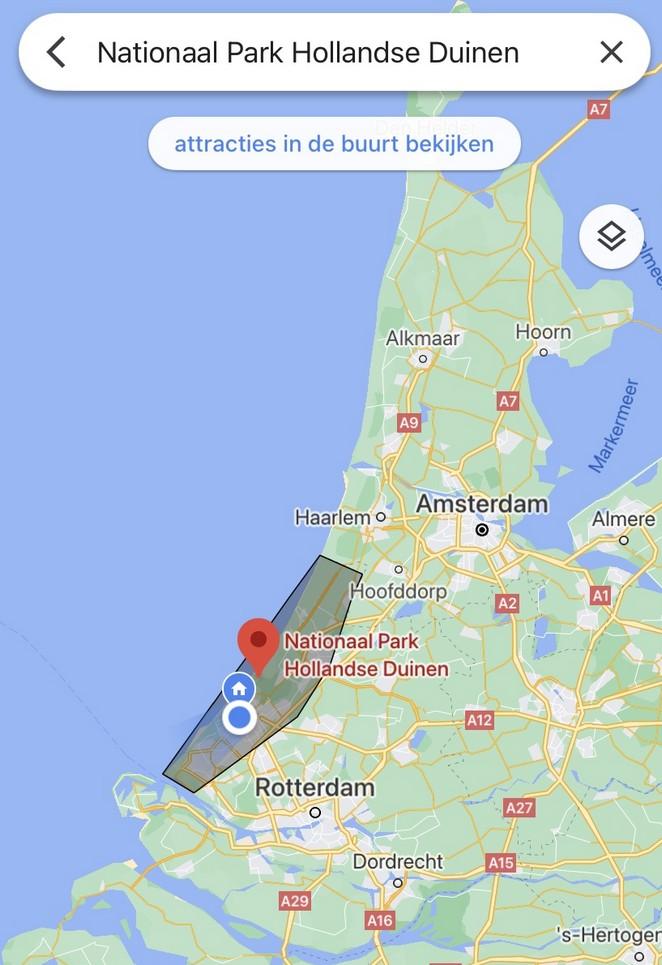 nationaal-park-hollandse-duinen-kaart
