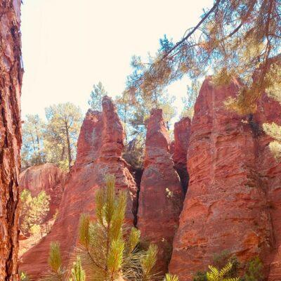 Le Sentier des Ocres: wandeling door de okergroeve bij Roussillon (Vaucluse)